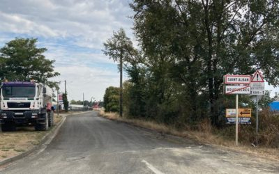 TRAVAUX : création d'un giratoire, route de l'Hers, zone du Petit Paradis