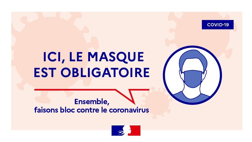 ALERTE RENFORCEE : PORT DU MASQUE OBLIGATOIRE SUR LA COMMUNE,…