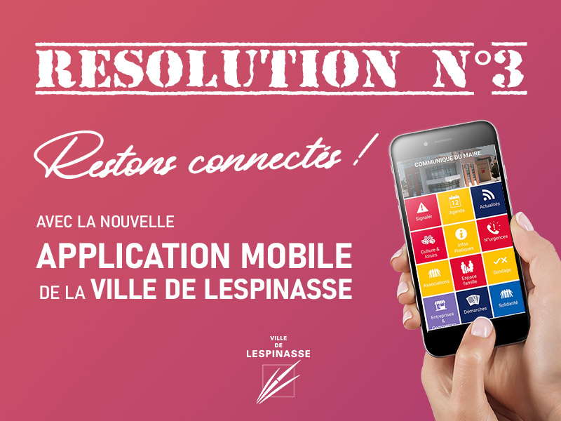 RESOLUTION N°3 : je télécharge l'application officielle de la Ville