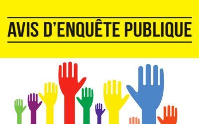 AVIS D'ENQUÊTE PUBLIQUE DU 7 JUIN AU 6 JUILLET 2021 : Demande d'autorisation environnementale, création d'une plateforme logistique, sur la commune de Saint-Jory.