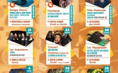 AUTOUR DE CHEZ NOUS : Saison festive et culturelle à Fenouillet (juillet-aout 2021)