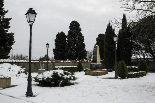 Lespinasse, sous la neige