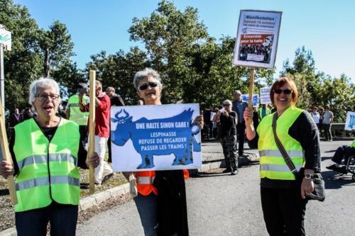 Manifestation halte Lespinasse octobre 2016
